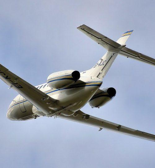 hawker, jet, takeoff